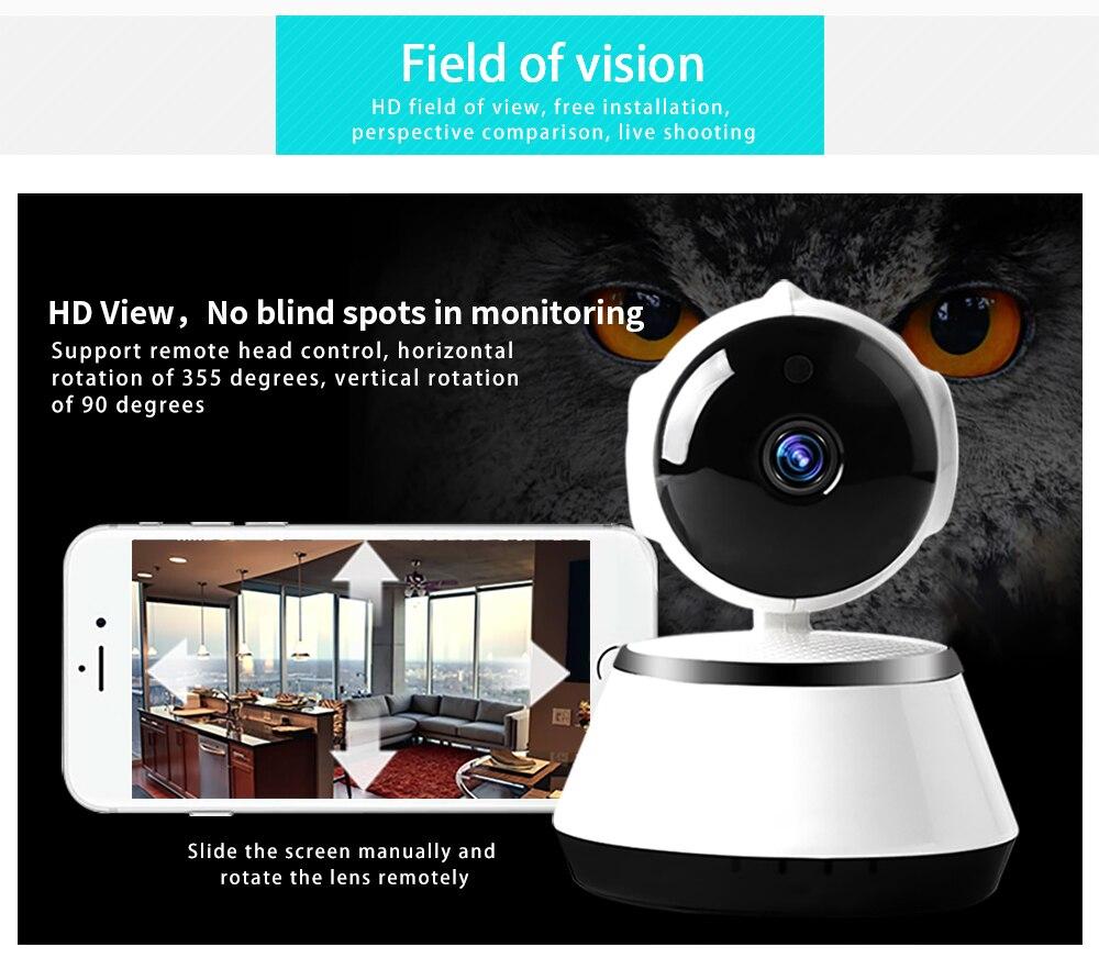 HD 1080p PTZ домашняя умная камера ночного видения панорамная камера с углом обзора 360 градусов pan-tilt видеоняня pet IP камера 360 видео камера