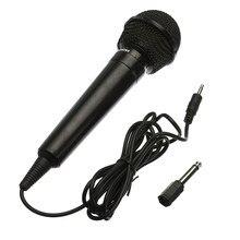 Universal 3.5mm com fio microfone protable público transmissor ktv karaoke gravação preto prata