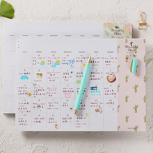 Floral A4 Planner Note Pad 40 Sheets notebook Diary Weekly Monthly Planner To Do List school office supplise Free Shipping coil spiral toread calendar style weekly schedule planner to do list notebook diary