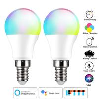 6W Smart WiFi lampadina E14 dimmerabile lampada a LED APP Smart Wake Up Night Light compatibile con Alexa Google Home