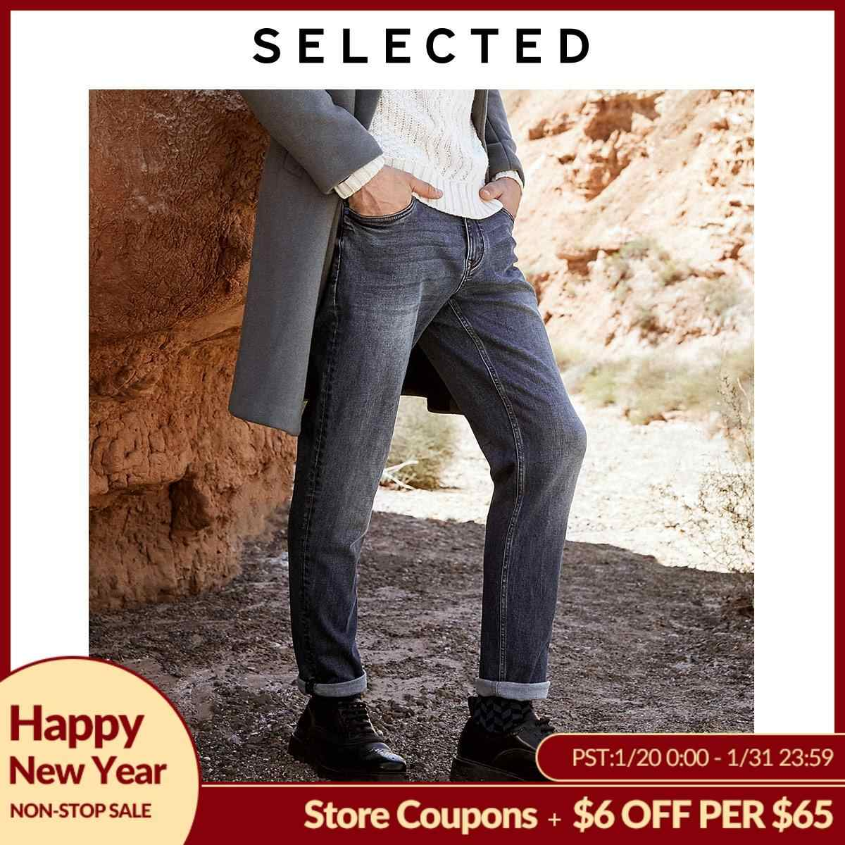 Geselecteerd Mannen Winter Stretch Contrasterende Tapered Jeans L | 419432522