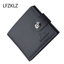 LFZKLZ 2020 new wallet Men's New Fashion mini short Leather Wallet Clip Card Holder Multi-layer Folder Coin Purse clutch bag 2016 new head layer crazy ma pipi new import two fold leather wallet men s short wallet leather folder hot free shipping