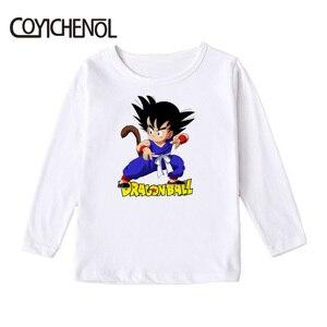 Image 5 - Dragon Ball kids tshirt 2019 Spring and autumn causul 2 12 Years animation long sleeve Kids Printed cartoon Tops COYICHENOL