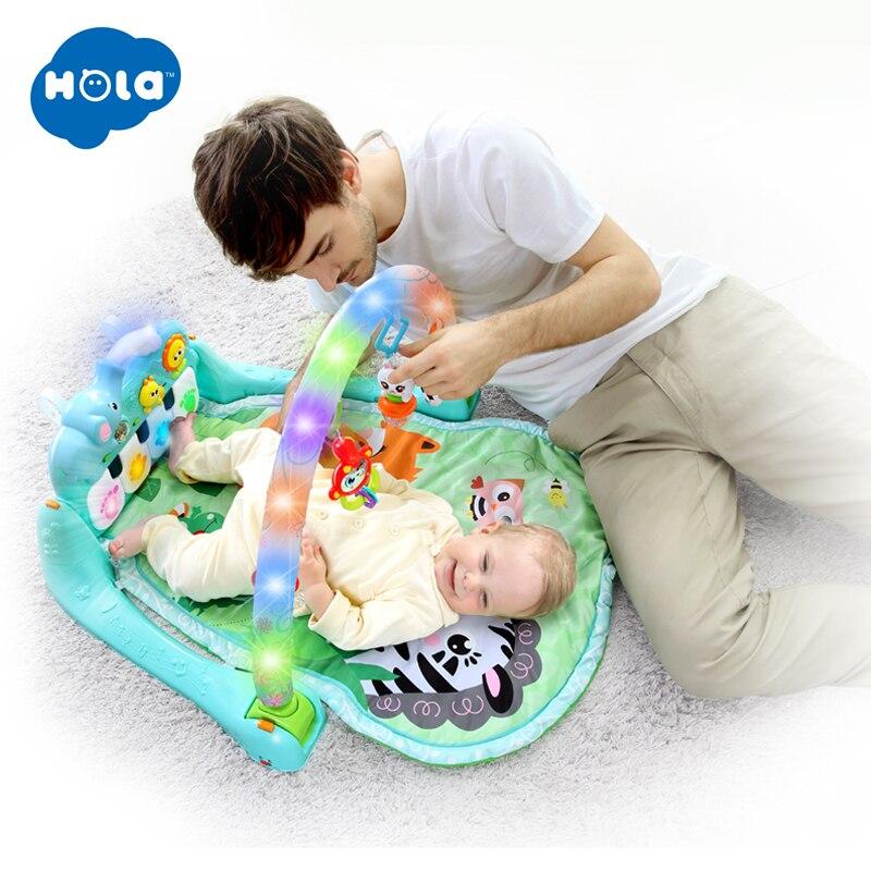 HOLA 1102 bébé tapis de jeu multifonctionnel développer ramper enfants Piano musique tapis infantile Fitness tapis support apprentissage jouet