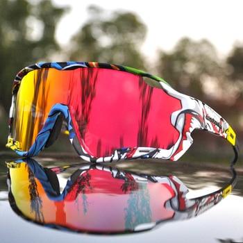 Acexpnm polarizado mountain bike ciclismo óculos de ciclismo esportes ao ar livre óculos uv400 4 lente ciclismo óculos de sol das mulheres dos homens 1