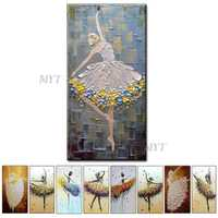 Retratos da parede Para Sala de estar Pintura A Óleo Sobre Tela Abstrato Arte Ballet Pintura Moderna Casa Villa hotel Corredor Sala de estar