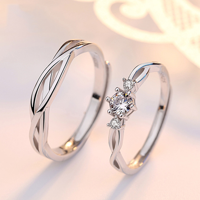 Купить с кэшбэком Engagement ring Fashion Jewelry High quality Adjustable sterling silver rings anniversary 925 sterling silver rings for women
