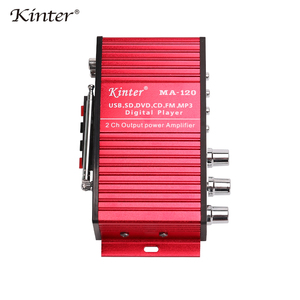 Image 4 - Kinter MA 120 Mini Amplifier audio 2.0CH 20W DC12V with USB SD FM play stereo sound supply power adapter in home car Motorcycle