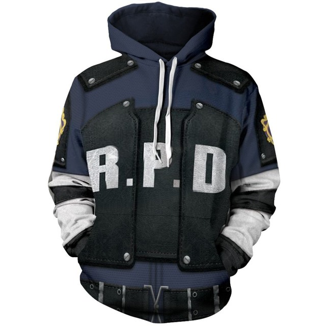 New style Resident Evil Leon 'S Kennedy 3D printed hooded hoodie cosplay anime peripheral 1
