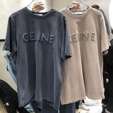 2021 nouvel Été Coréen Mode Tees femme Ample Grande Taille O-cou Étudiants Broderie Manches Courtes T-shirt vêtements Femmes Hauts