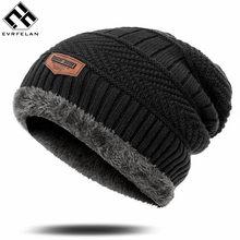 Hohe Qualität männer Winter Hut Baumwolle Verdicken Winter Warme Mützen hut Für Männer Mode Unisex Gestrickte Hüte Motorhaube