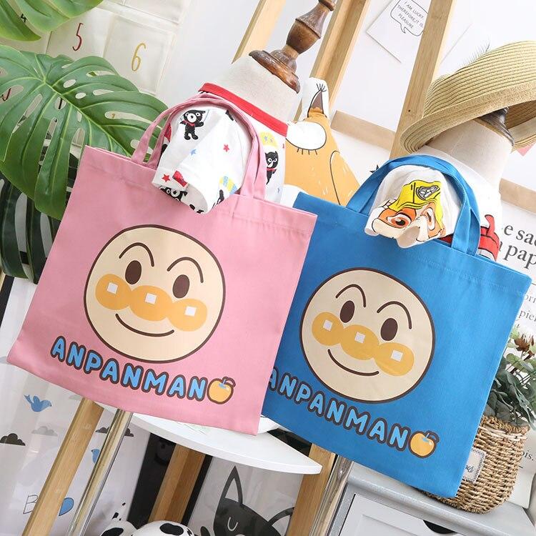 Boy 2019 New Style Four Seasons Versatile Children's Bags Anime Cartoon Flax Carry Bag 17454