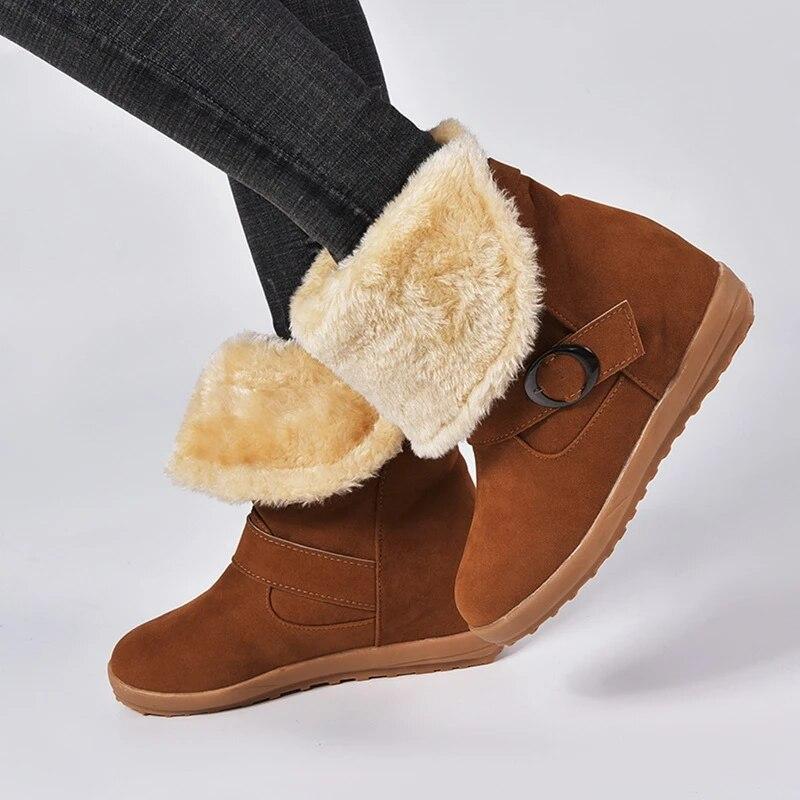Moda Blanco Botas De Invierno Botas De Nieve Niñas 2018 para mujeres Zapatos De Alta Calidad
