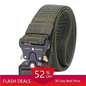 Unisex Cobra Buckle Tactical Belt For Trousers Casual Nylon Army Belts Training Equipment Belt Male Black Military Waist Belt