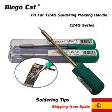 Original JBC Löten Eisen Tipps C245-741 C245-036 C245731 C245773 C245903 Verwendet Für T245 Schweißen Griff Handy Reparatur Werkzeug