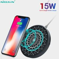 Nillkin 15 w rápido carregador sem fio para iphone 11 iphone 11 pro max carga rápida 3.0 qi sem fio carregador almofada para samsung xiaomi