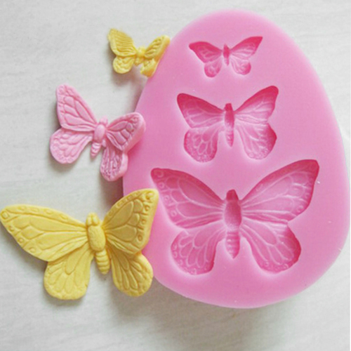 1Pcs Sugarcraft Butterfly Silicone molds fondant mold cake decorating tools chocolate moulds wedding decoration mould image