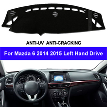TAIJS Bảng Điều Khiển Trên Ô Tô Bao Dash Cho Xe Mazda 6 2014 2015 Chống Trơn Trượt Nắng Ô Tô Dash Thảm Lót thảm Chống Tia UV Kiểu Dáng Xe