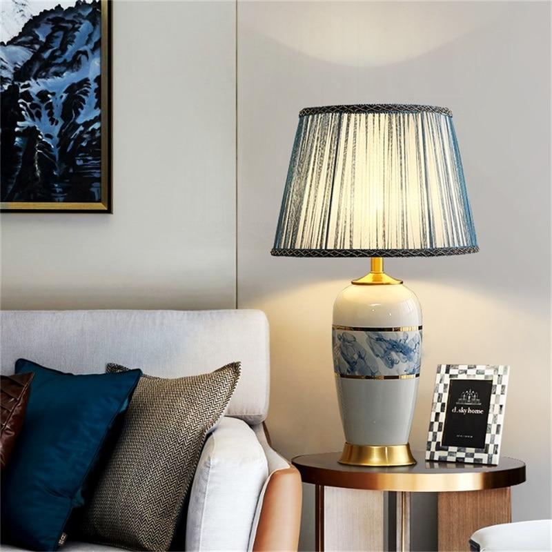 Керамические настольные лампы oufula светильник ные тканевые