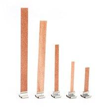 50 Uds. De mecha de madera para velas, 6/8/9/12.5/13mm, con lengüeta de soporte, mecha, núcleo para fabricación de velas, suministro de cera de Parffin de soja, nuevo