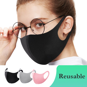 1Pcs/Set Adult Kids Outdoor Unisex Summer Sports Washable and Comfortable Reusable Dust Cover Ice Silk Mask