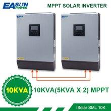 EASUN 전원 8000W 태양 광 인버터 60A MPPT 10KVA 그리드 인버터 48V 220V 순수 사인파 하이브리드 인버터 60A 배터리 충전기