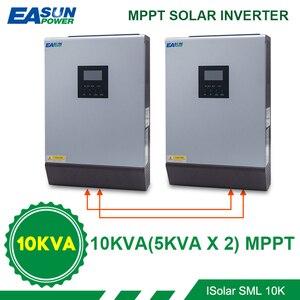 Image 1 - EASUN POWER 8000 واط الشمسية العاكس 60A MPPT 10KVA قبالة الشبكة العاكس 48 فولت 220 فولت نقية شرط موجة الهجين العاكس 60A شاحن بطارية