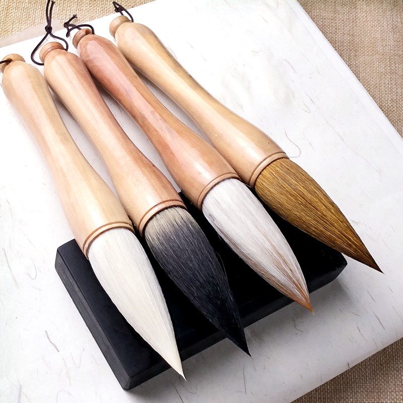 Large Chinese Traditional Brush Caligraphy Hopper-shaped Brush Landscape Painting Tinta China Writing Couplet Calligraphy Pen