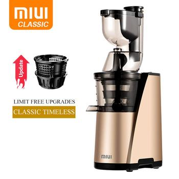 MIUI Slow juicer Metal filter Cold press extractor Easy Clean 43rpm Quiete Motor Large Diamete 2018 Years style