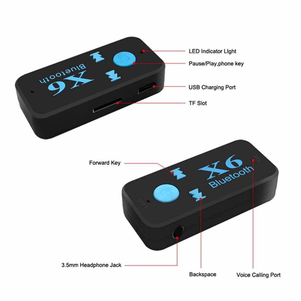 Przenośny odbiornik audio Bluetooth 5.0 Mini 3.5mm HIFI AUX Stereo Bluetooth do telewizora PC adapter bezprzewodowy do słuchawek głośnik samochodowy