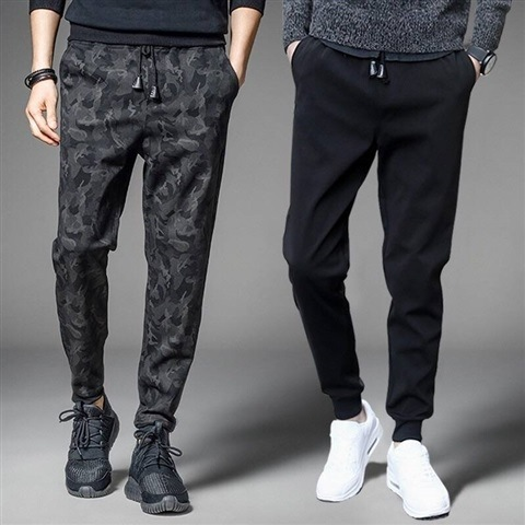 Athletic Pants Men's Autumn Pants Casual Pants Trend Skinny Pants Teenager Students Beam Leg Capri Pants
