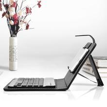 Клавиатура для мобильного телефона, роскошная женская Кожаная клавиатура для телефона, Bluetooth флип-чехол, мужская деловая оболочка для iPhone xiaomi