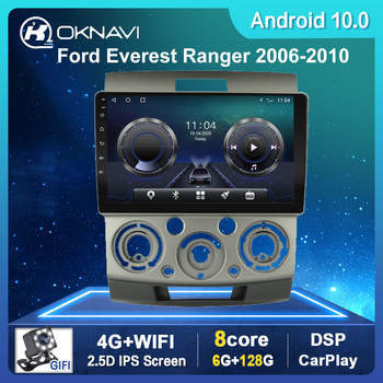 Car Radio For Ford Everest/Ranger Android 10.0 Multimedia Navigation Stereo Auto Head Unit WIFI Carplay DSP 4G No CD Playe image