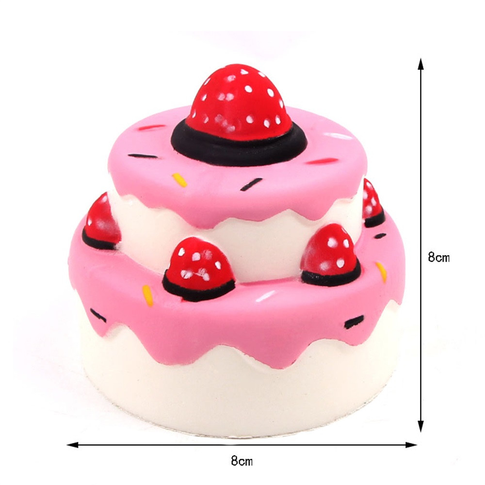 Toys For Children Squishies Jumbo Strawberry Cake Scented Slow Rising Squeeze Toys Stress Reliever Toys Kids Toys Baby Toys