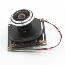 """Lente ojo de pez HD 1080P AHD 1/2, 9 """"Sony IMX323 + NVP2441 Starlight de baja iluminación CCTV, módulo de cámara PCB + 1,7mm"""