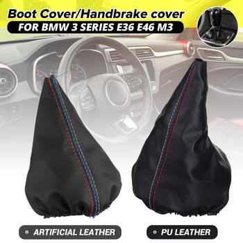 Gear Shift Boot Gaiter Handbrake Case Shifter Gaiter Boot Cover Parking Handbrake Cover For BMW 3 Series E36 E46 M3 E30 E34 Z3 image