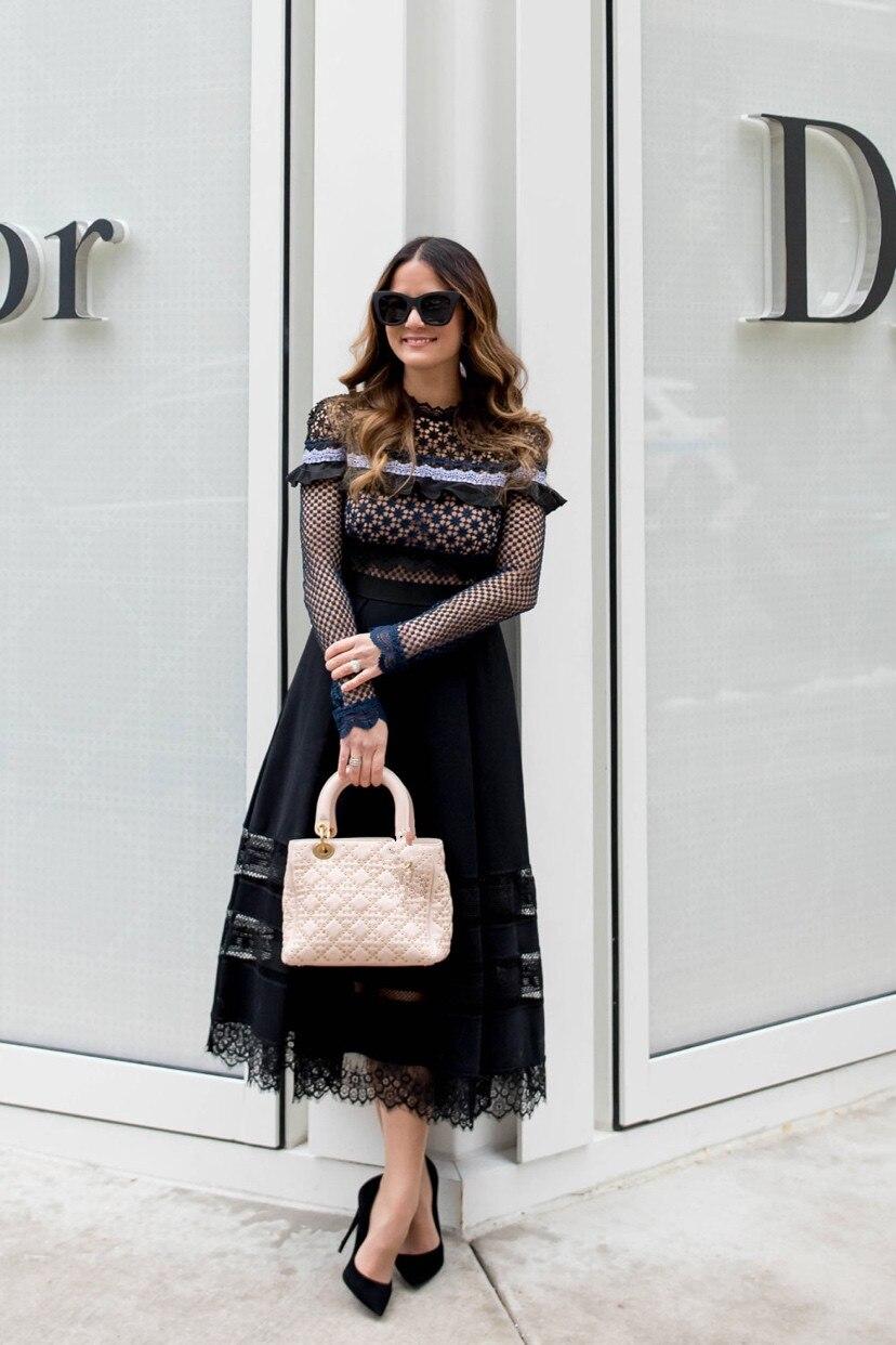 2019 Новое поступление высококачественное темно синее платье - 2