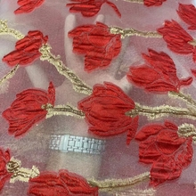 African Lace Fabric 2021 Hot Nigerian Sequin Lace Fabric High Quality French Tulle Lace Embroidery Fabrics For Party