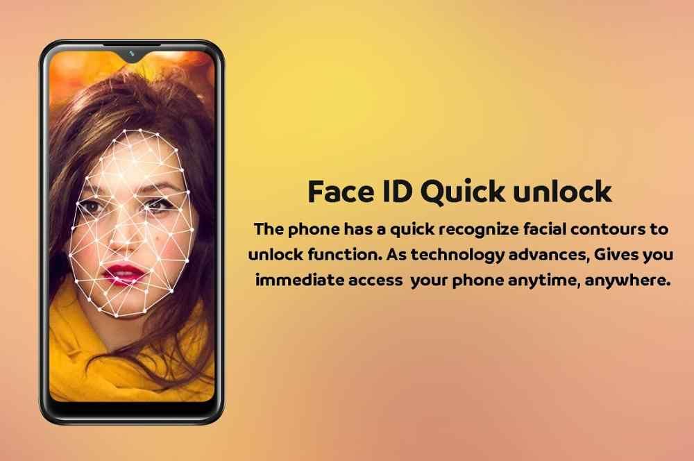 Note10 スマートフォン水滴画面 6.26 インチ 4 グラムram 64 グラムromクアッドコア 13mp顔idロック解除アンドロイド携帯celulares