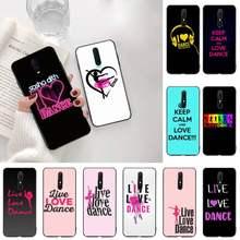 Yjzfdyrm eu amo dança preto capa de telefone escudo macio para oppo a5 a9 2020 reno2 z renoace 3pro realme5pro