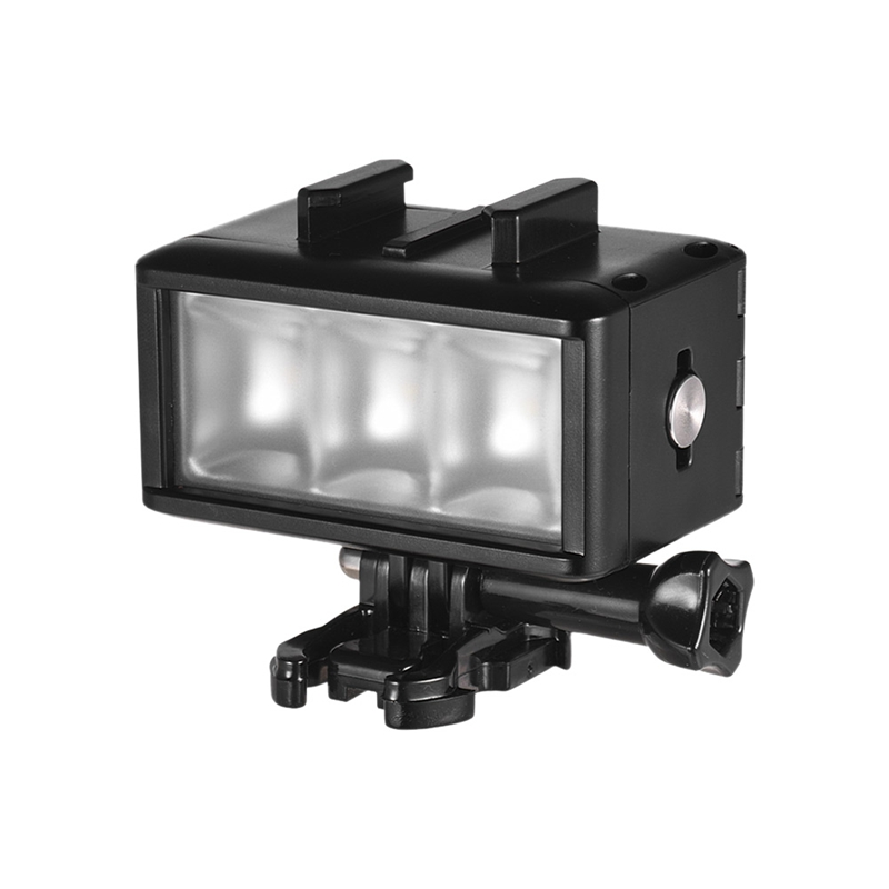 Video-Light Waterproof Underwater-40m Dimmable-Lamp 900mah Led with Rechargeable-Battery