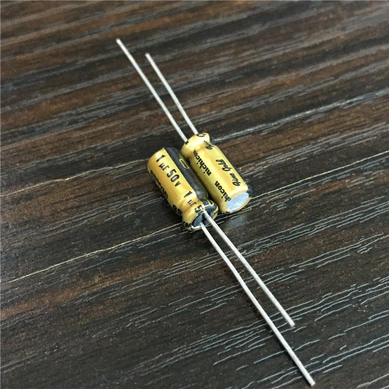 5pcs/50pcs 1uF 50V NICHICON FG(Fine Gold) 5x11mm 50V1uF Top Grade Audio Capacitor