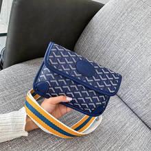 Autumn New Women's Bag Trend Fashion Shoulder High Quality Leather Striped Bag Woman Famous Luxury Brand Wild Messenger Bag 2019 цены