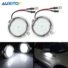 2X LED Pathway Lighting CANBUS Under Side Mirror Puddle Light for Ford Edge Ranger Mondeo Fusion Flex Explorer Taurus Expedition
