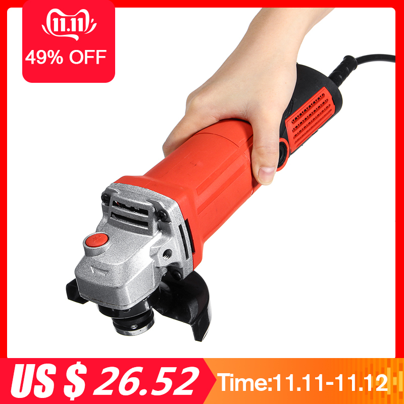 1600W Electric Angle Grinder For Woodworking Grinder Polisher Angle Compact Grinding Machine Polishing Metal Wood Cutting Tool