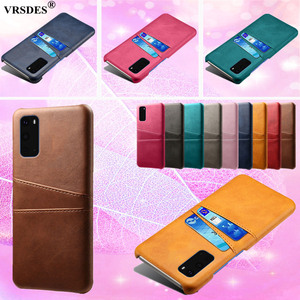 For Samsung Galaxy S20 Ultra S10 5G S9 S8 Plus S10E Slim Card Slots PU Leather+PC Case For Note 9 8 5 4 S7 S6 Edge Plus Funda(China)