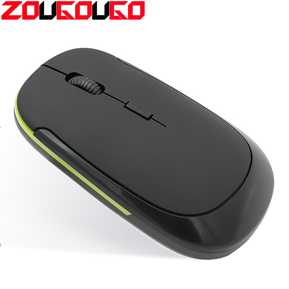 2.4G Portable Wireless Optical Gaming Mouse Ultra-thin Mice With USB Receiver For Laptop Notebook PC