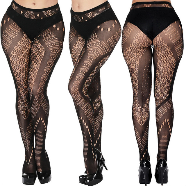 DOIAESKV Plus Size Tights Women Sexy Erotic Lingerie Pantyhose Sex Body Stockings Large Size Tights Sexy Women Fishnet Pantyhose