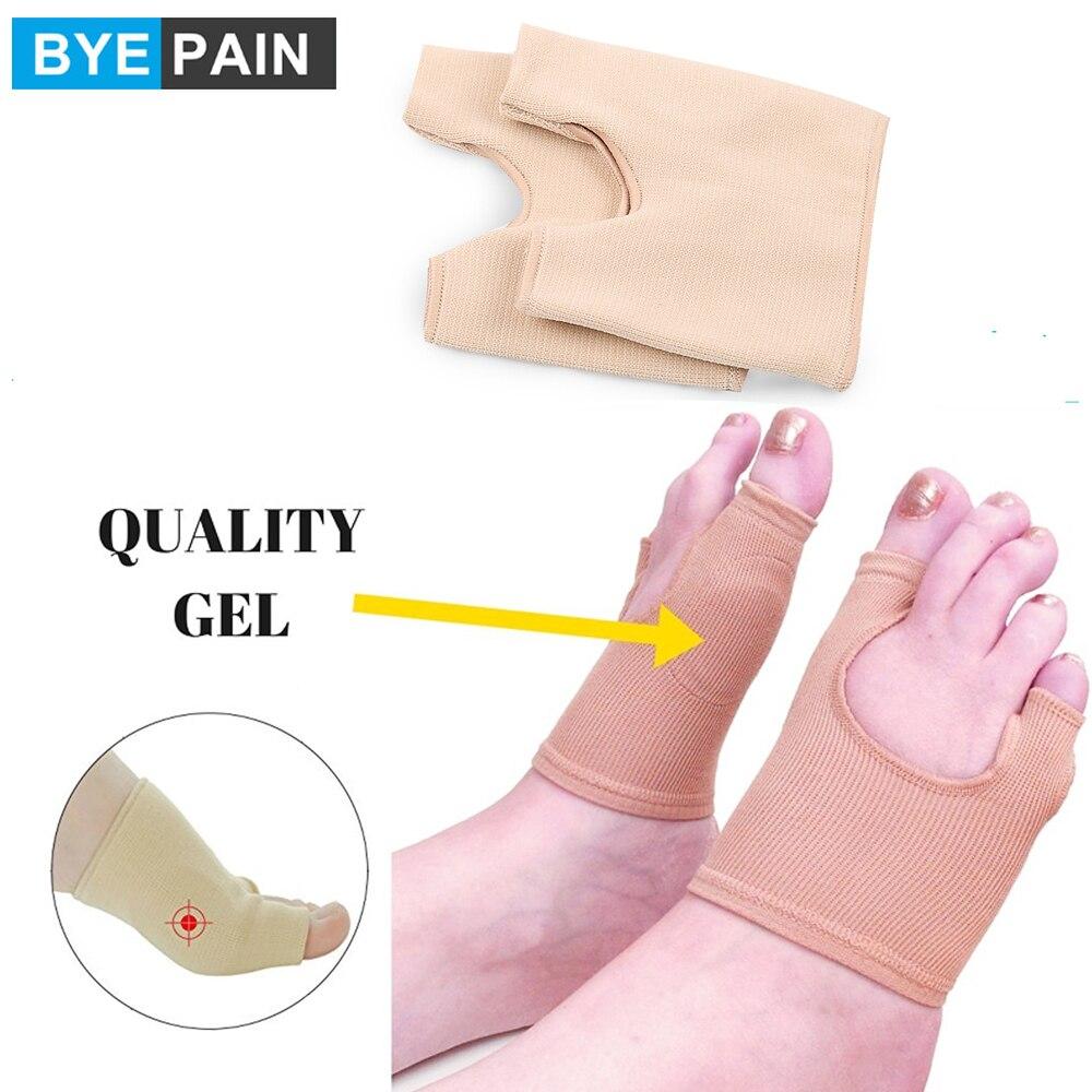 1 пара BYEPAIN Bunion recortor & Bunion Relief Protector Sleeves Kit, Bunion выпрямитель для пальцев ног с гелевым разделителем пальцев