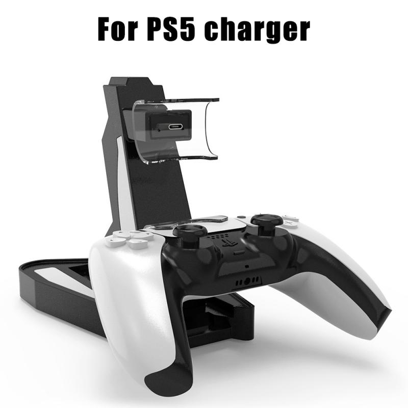 Wireless Controller Charger Dock For PS5 Controller Dual USB Charging Stand Station Cradle For Sony Playstation 5 Fast Charger